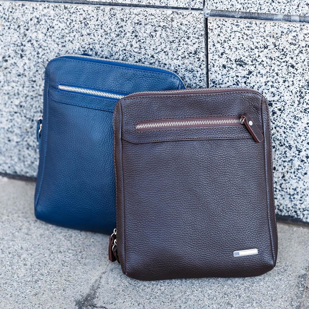 Уход за мужскими кожаными сумками