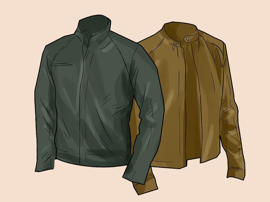 Выбор черной или коричневой куртки
