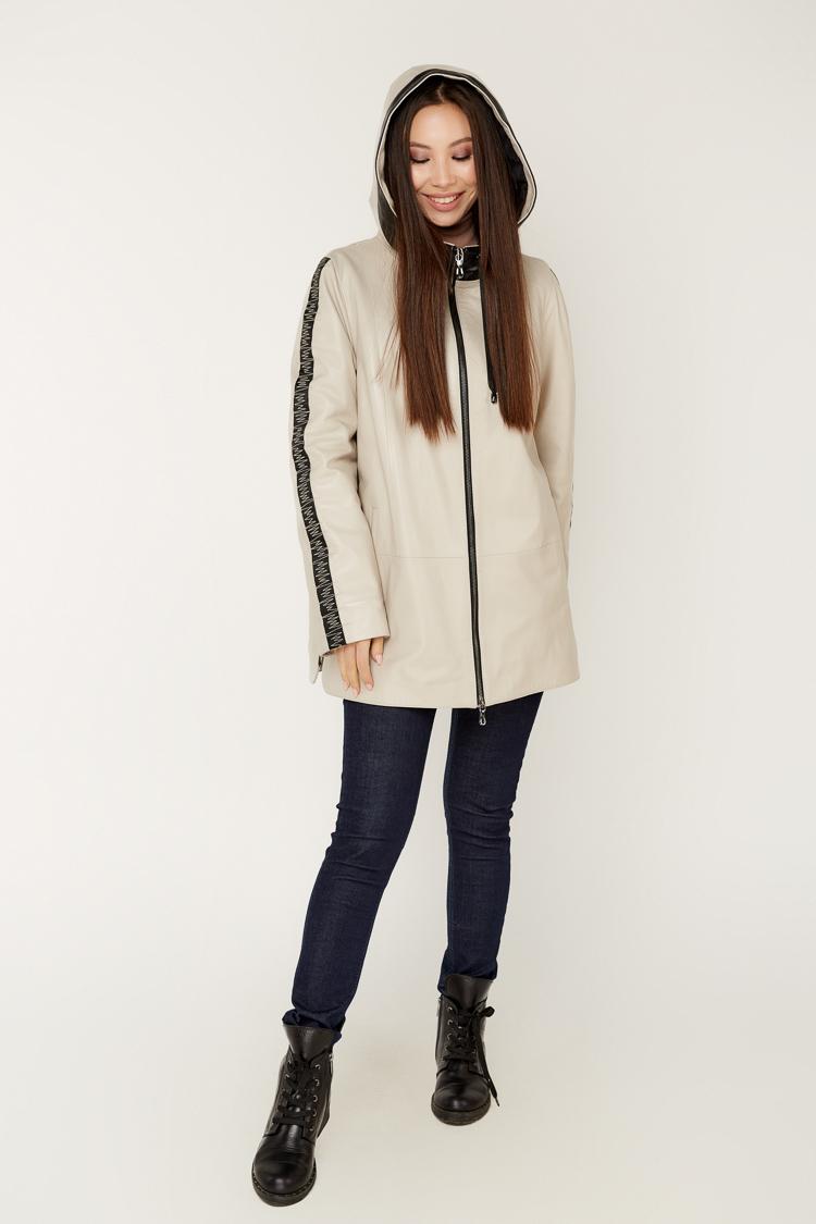 Куртка женская из натуральной кожи мультиколор, модель 047/KPS