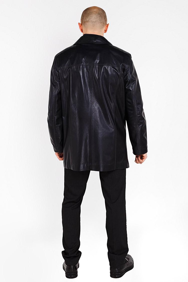 Куртка чоловіча з натуральної шкіри синя, модель S-241