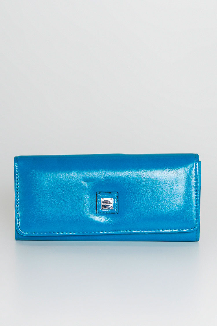 Гаманець жiночий з екошкіри синiй, модель 8965