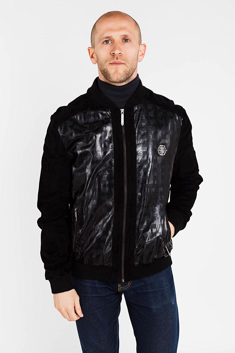 Куртка чоловіча з натуральної шкіри чорна, модель PP-1013