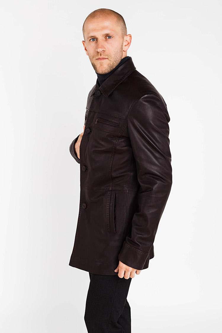 Куртка чоловіча з натуральної шкіри коричнева, модель 2006