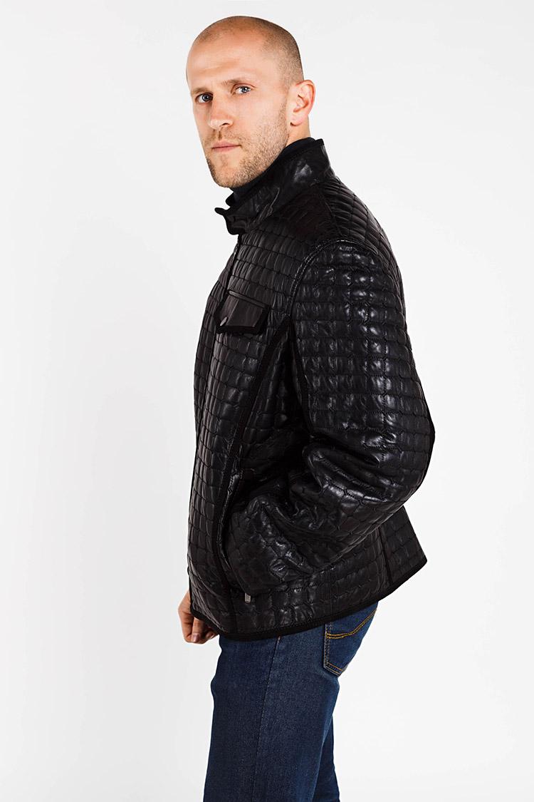 Куртка чоловіча з натуральної шкіри чорна, модель S-265