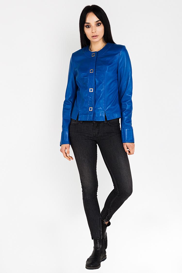 8c95becbb80 Купить куртку женскую из натуральной кожи синюю