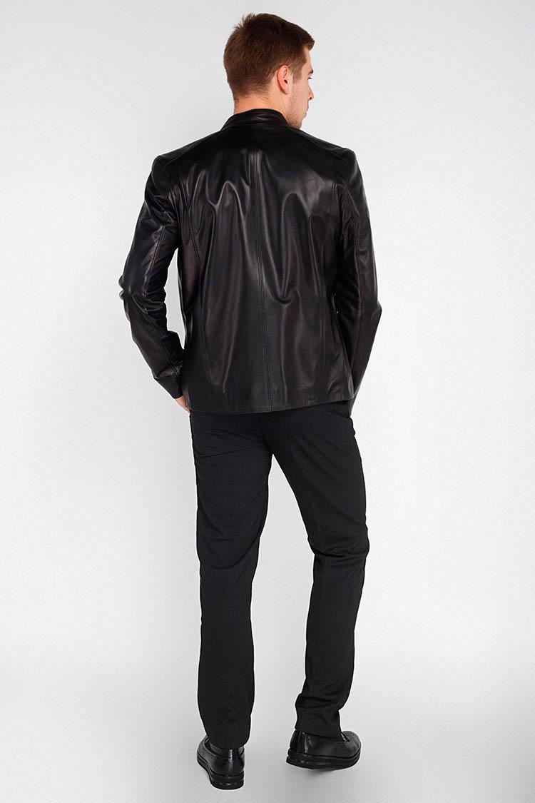 Куртка чоловіча з натуральної шкіри чорна, модель F-405