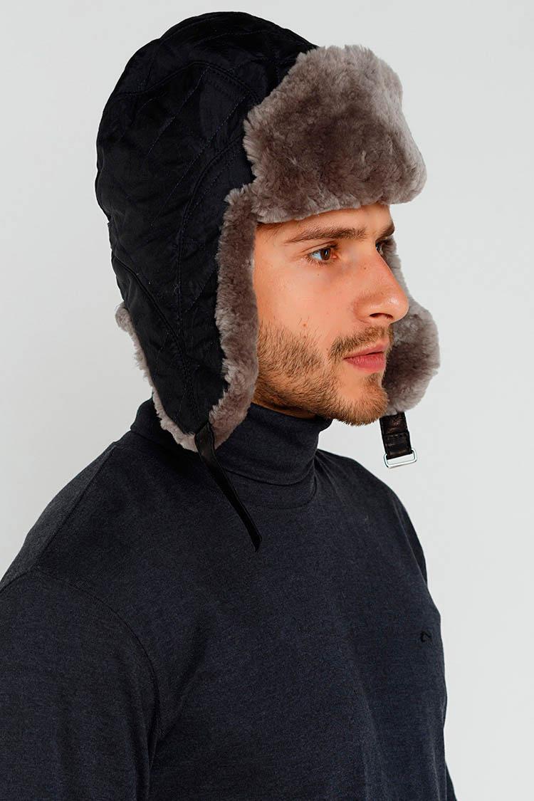 Купити шапку чоловiчу з трикотажу чорну d736d149de760