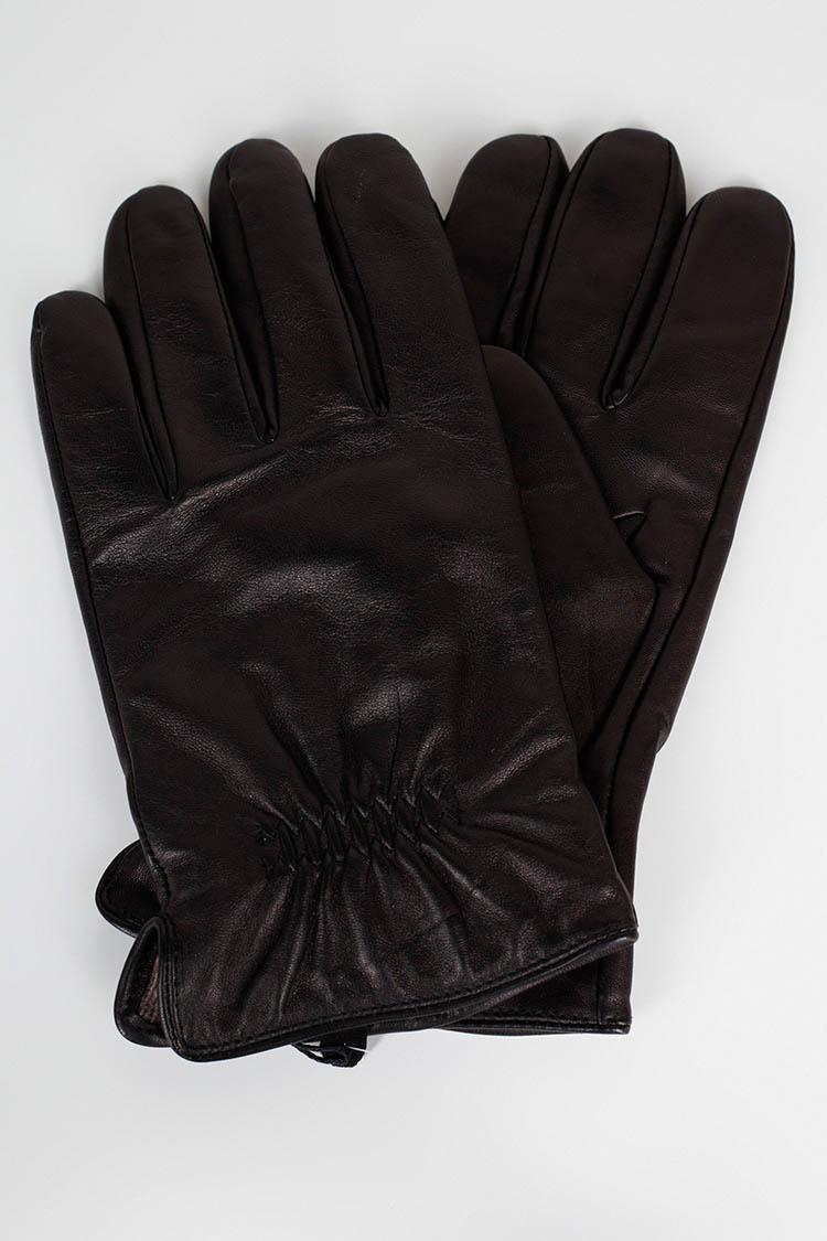 Рукавички чоловiчi з натуральної шкіри чорні, модель 206