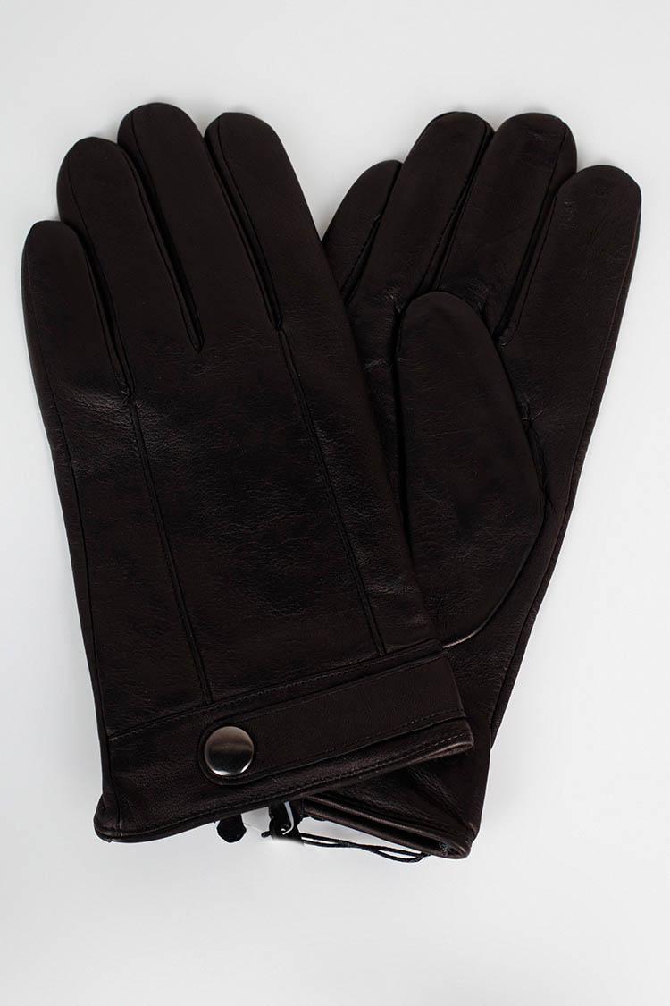 Рукавички чоловiчi з натуральної шкіри чорні, модель 26013