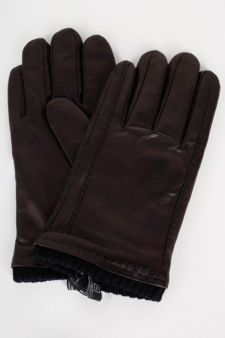 Рукавички чоловiчi з натуральної шкіри чорні, модель 207