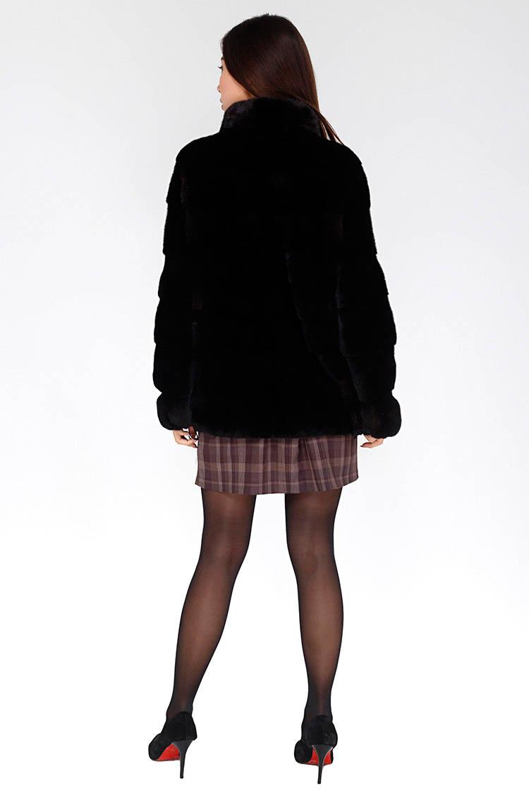 Шуба женская из норки коричневая, модель 2406