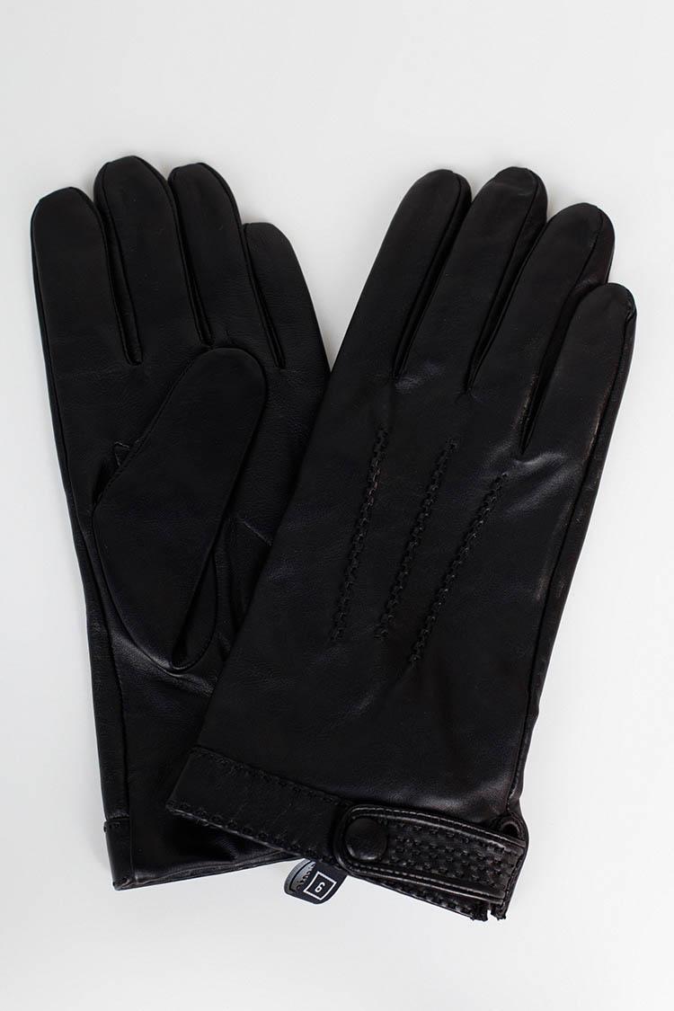 Рукавички чоловiчi з натуральної шкіри чорні, модель 359