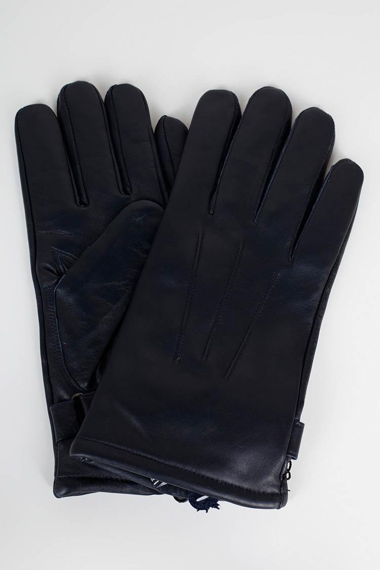 Рукавички чоловiчi з натуральної шкіри синi, модель 661