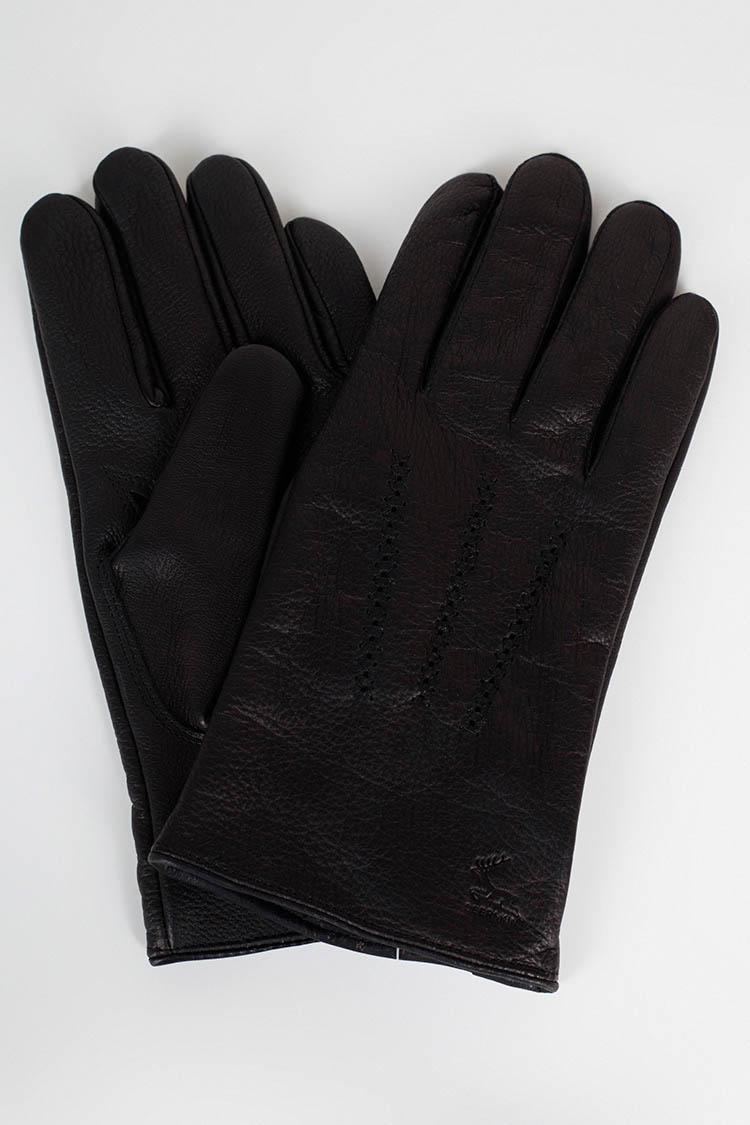 Рукавички чоловiчi з натуральної шкіри чорні, модель 373