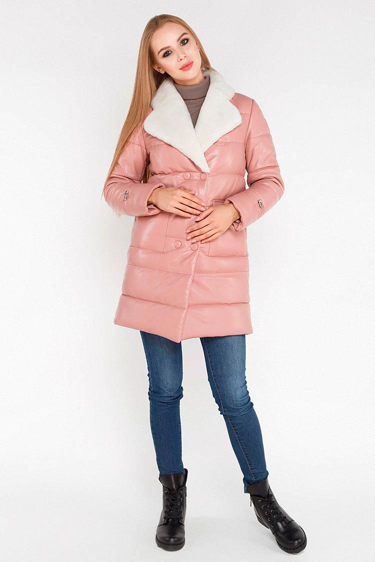 Куртка женская из натуральной кожи бежевая, модель B-830