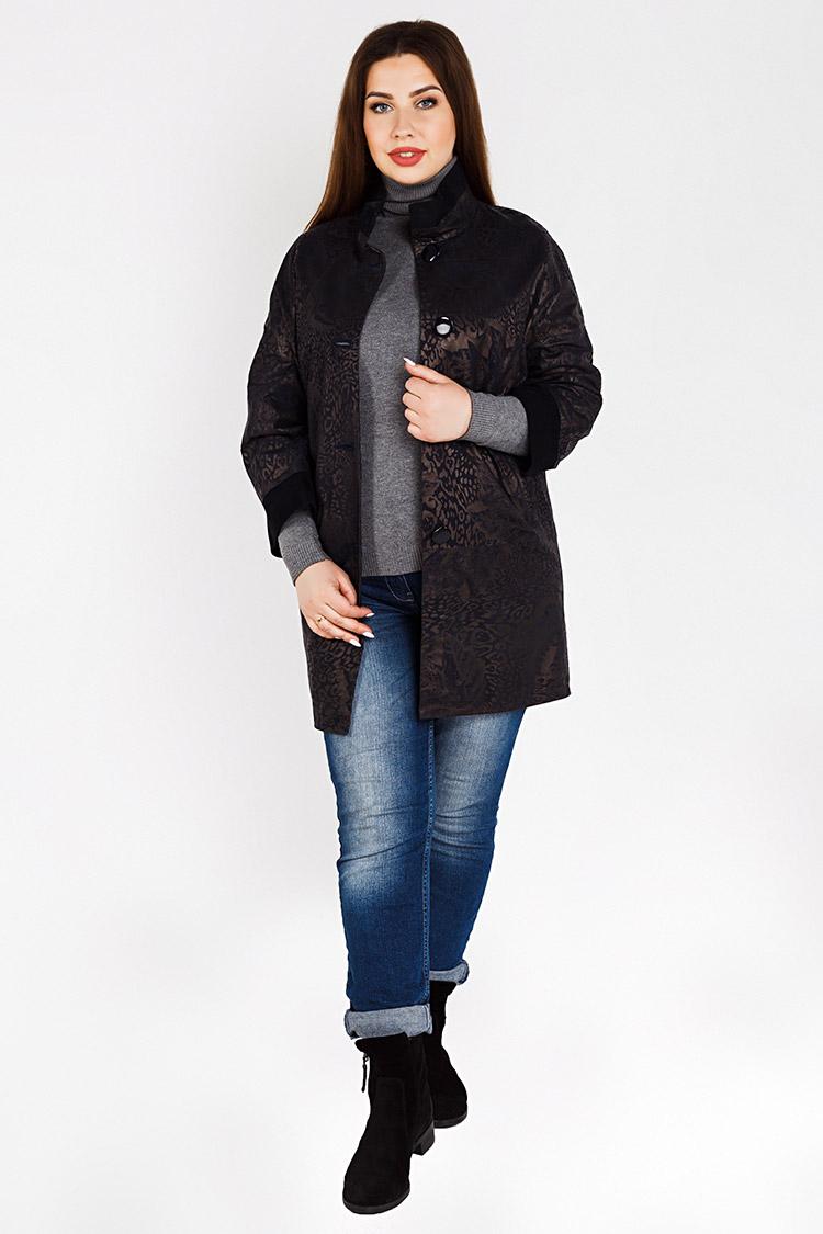 Куртка женская из замша мультиколор, модель B-1820