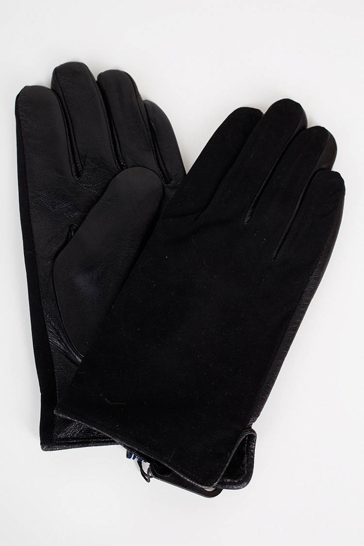 Рукавички чоловiчi з натуральної шкіри чорні, модель GM-06