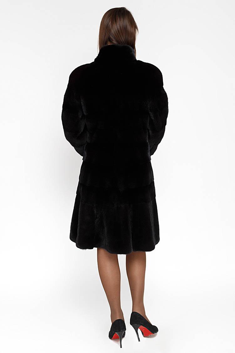 Шуба жiноча з норки чорна, модель FIN 482/95