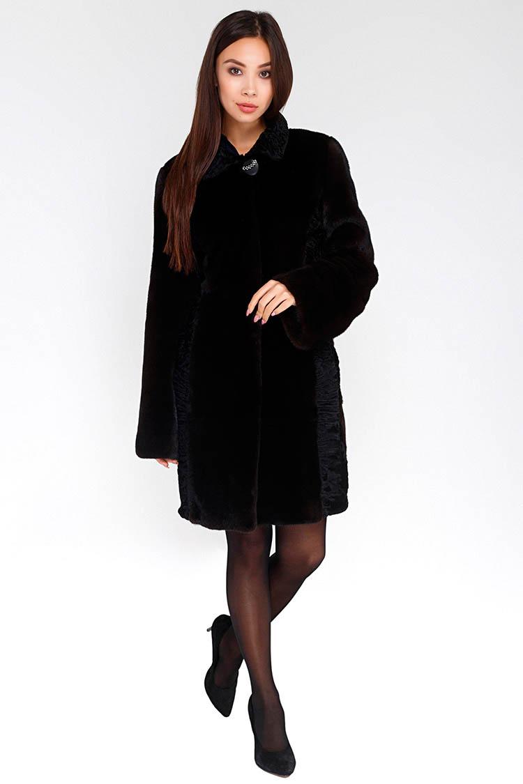 Шуба женская из норки черная, модель D 30/90