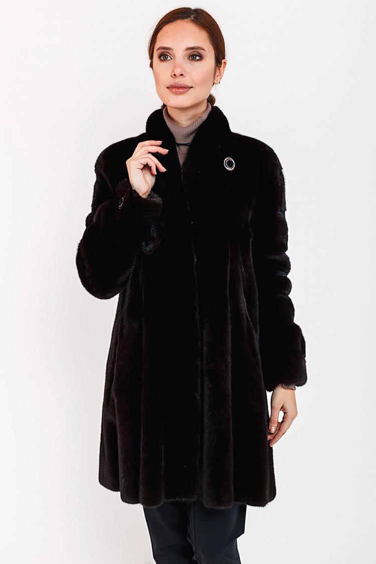 Шуба женская из норки черная, модель MARILENA/85