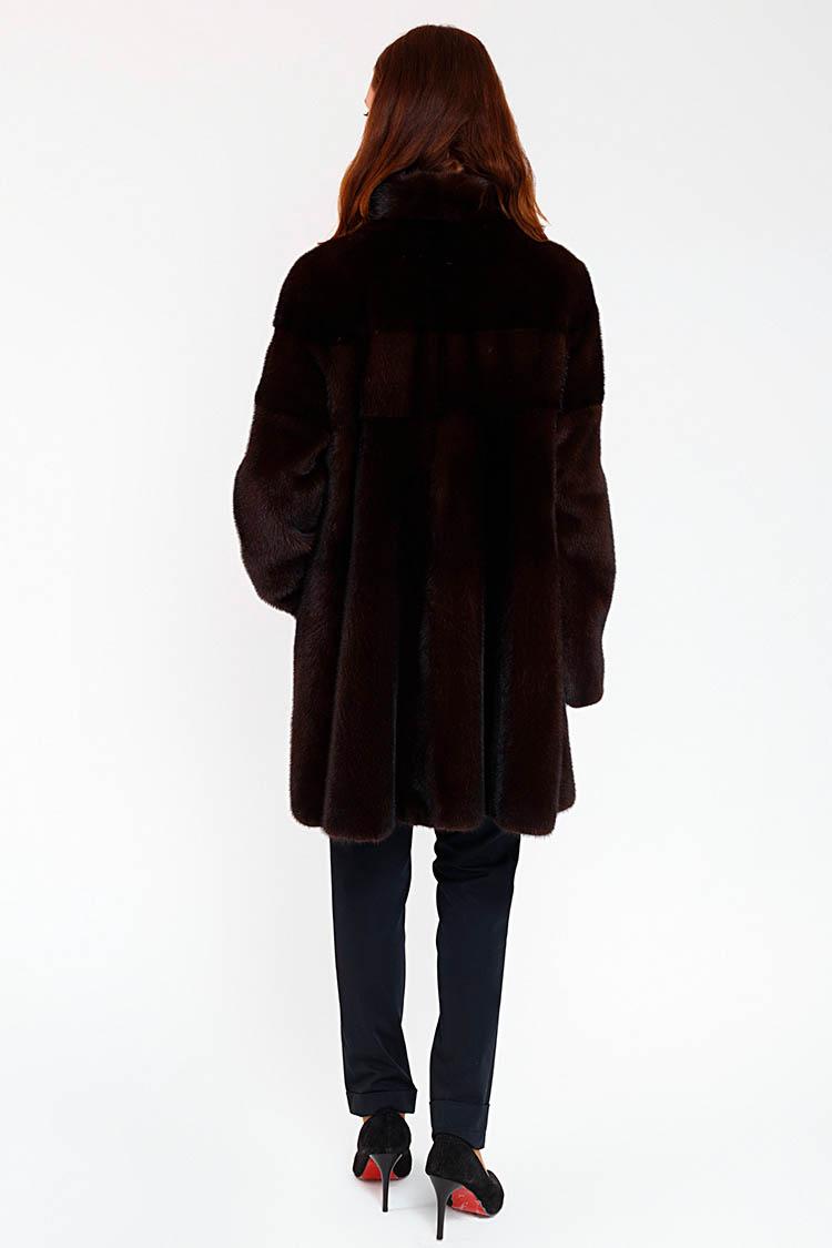 Шуба жiноча з норки червона, модель VALERI/85