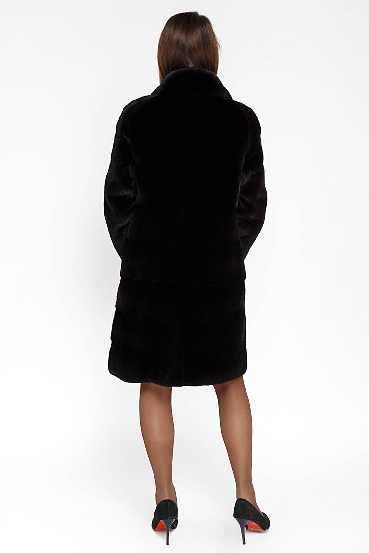 Шуба жiноча з норки чорна, модель RAHIL/95