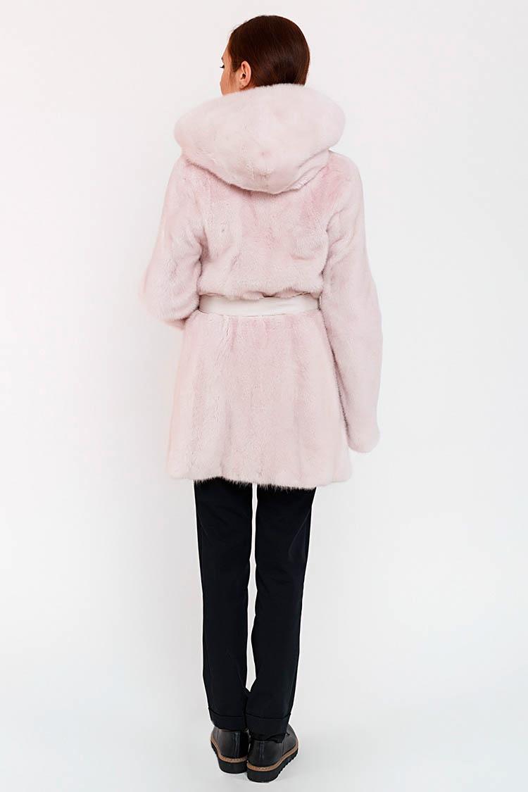 Шуба женская из норки розовая, модель 9976 K/80/KPS