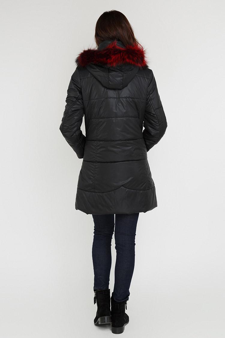 Куртка жiноча з полиэстера чорна, модель X-012/1