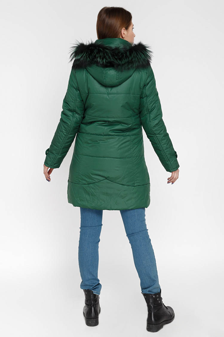 Куртка жiноча з полиэстера зелена, модель X-012
