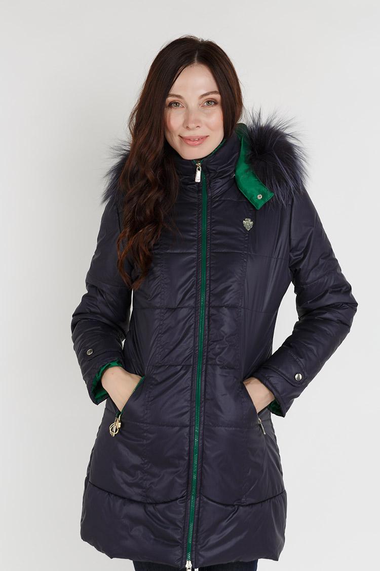 Куртка женская из полиэстера черная, модель X-06