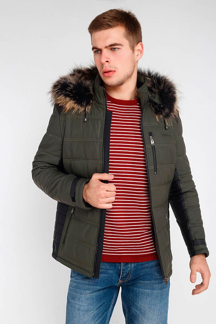 Куртка чоловіча з натуральної шкіри зелена, модель BT-601