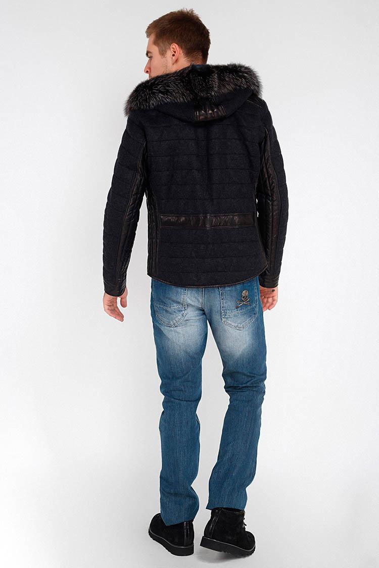 Куртка чоловіча з натуральної шкіри чорна, модель 3312/KPS