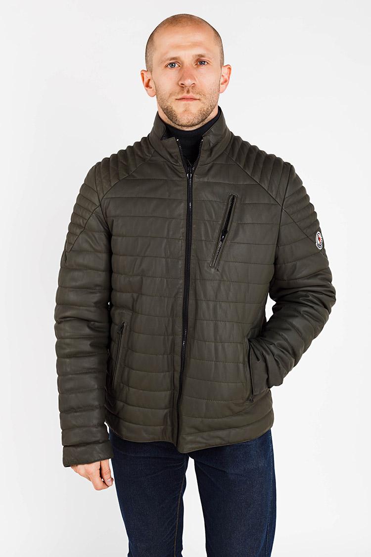 Куртка чоловіча з натуральної шкіри різнокольоровый, модель E-182/двухст