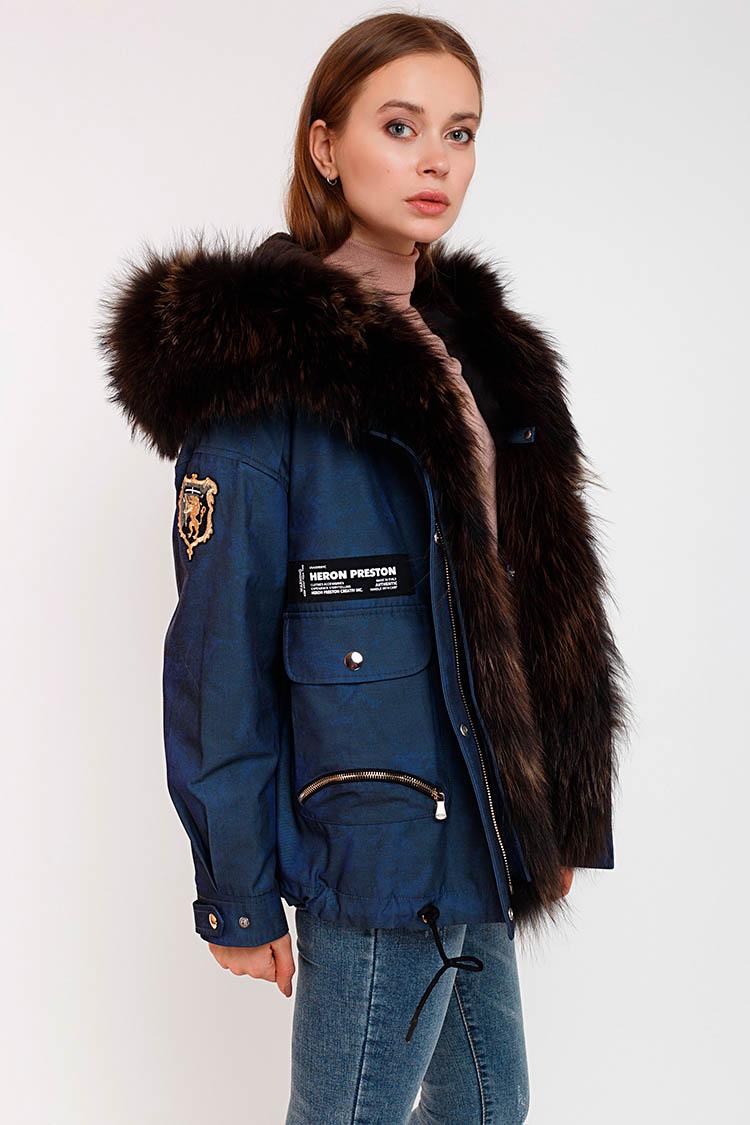 Куртка жiноча з полиэстера різнокольоровый, модель 17324/PARKA
