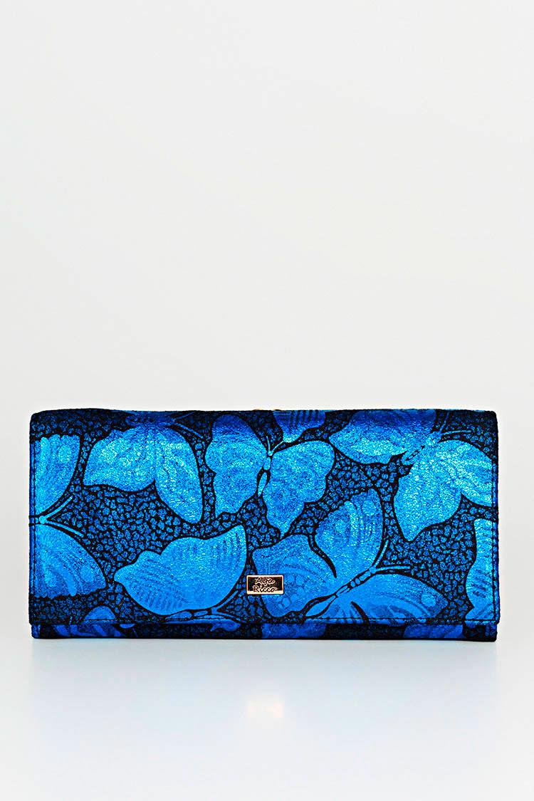 Кошелек женский из замша синий, модель 3417
