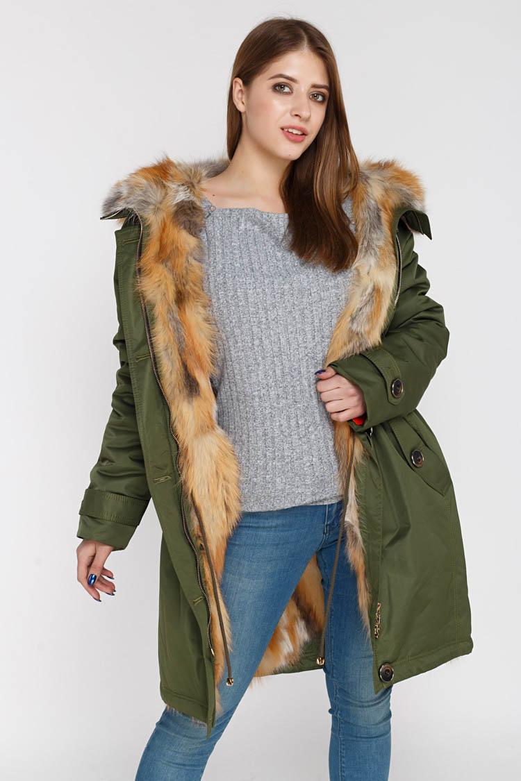 Куртка жiноча з полиэстера зелена, модель PARKA/2