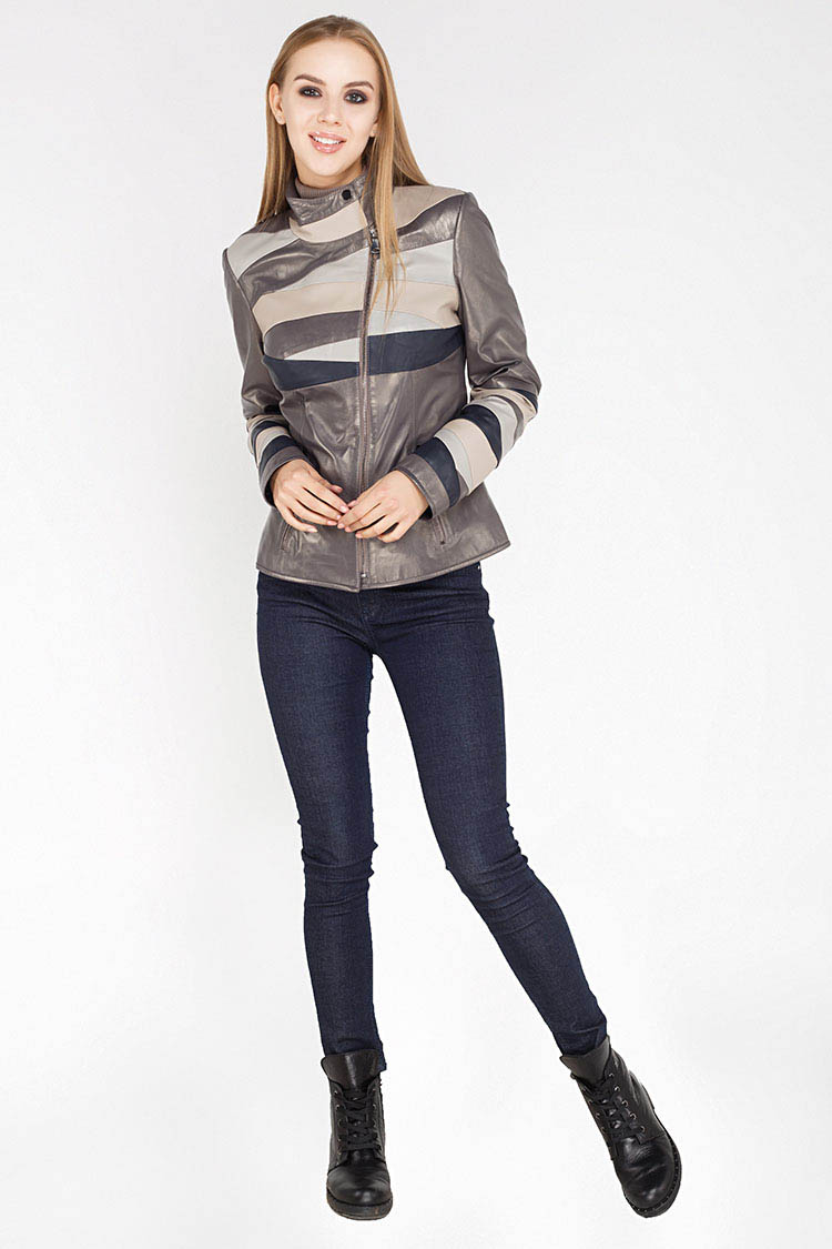Куртка жiноча з натуральної шкіри різнокольоровый, модель DC-1581