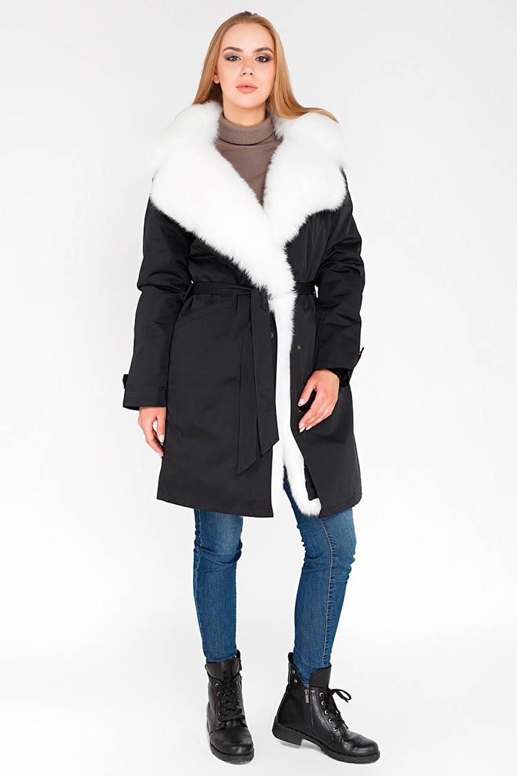 Куртка жiноча з трикотажу чорна, модель 1811/90