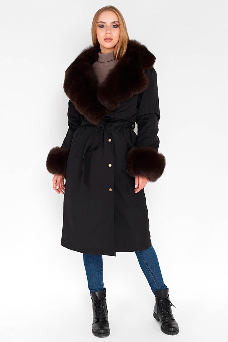 Куртка жiноча з трикотажу чорна, модель 1813/110