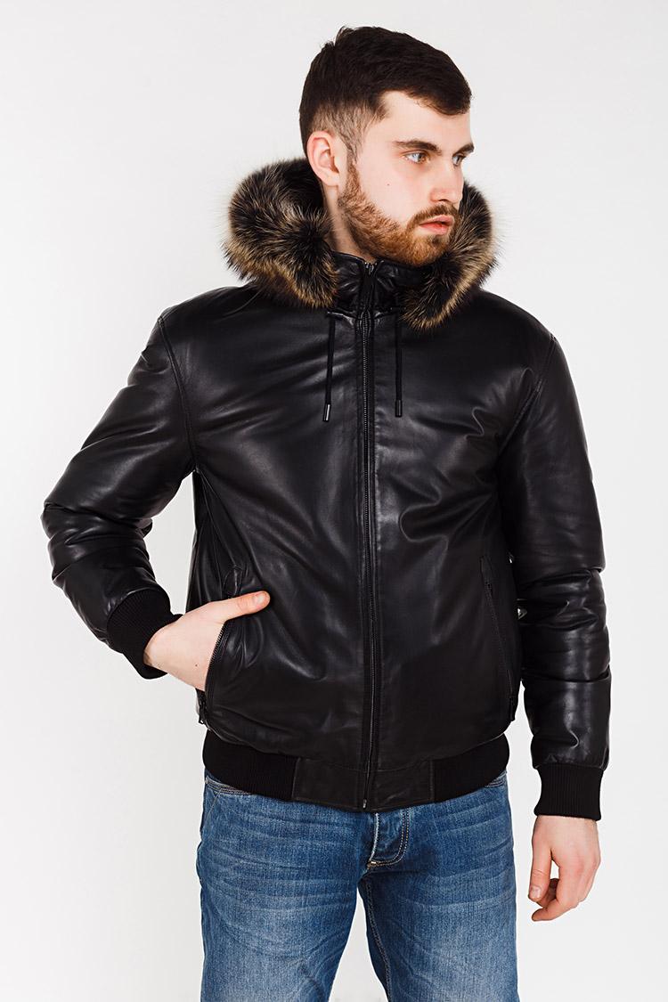 Куртка чоловіча з натуральної шкіри чорна, модель M 81852/KPS