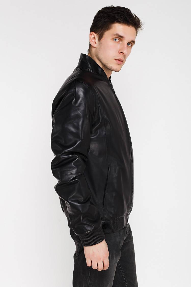 Куртка чоловіча з натуральної шкіри чорна, модель A 8819