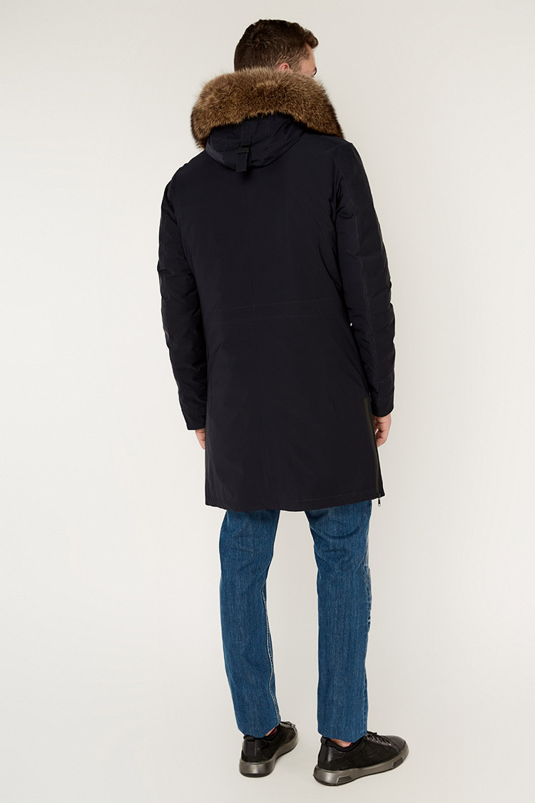 Куртка мужская из трикотажа синяя, модель 887053/KPS