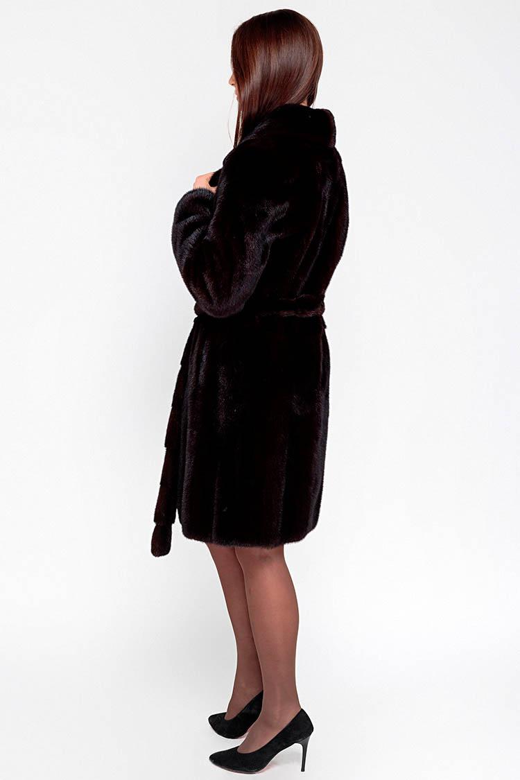 Шуба женская из норки коричневая, модель 223/94
