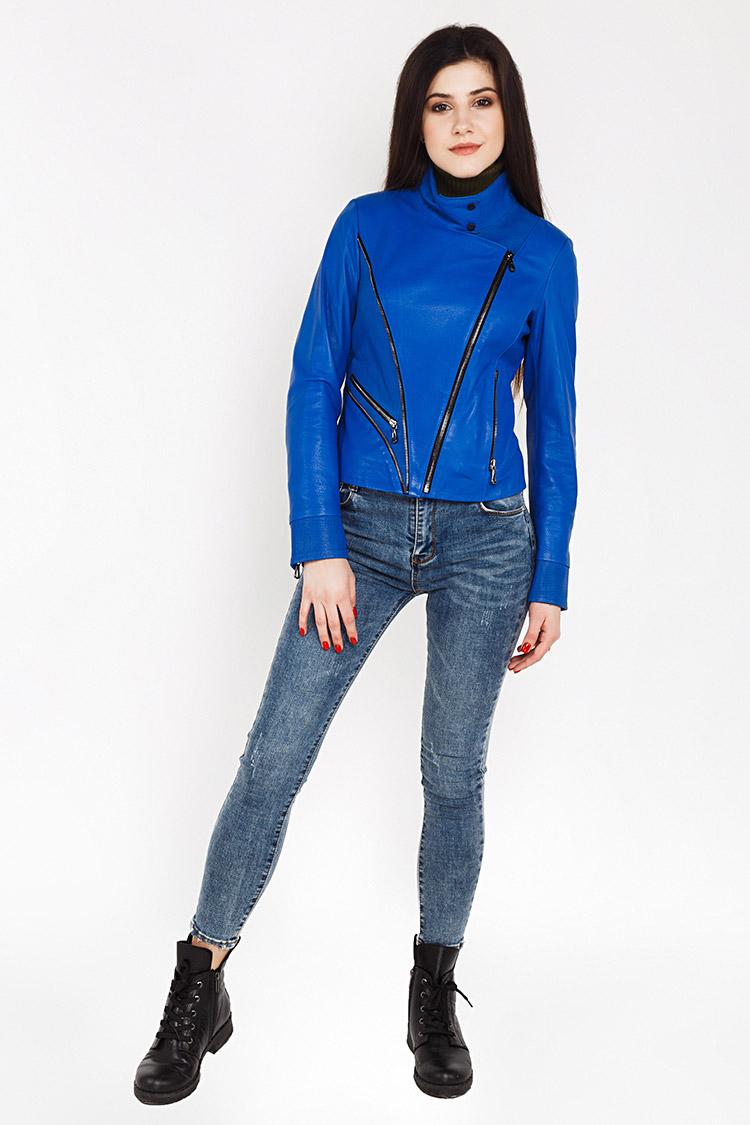 fa414c8070a Купить куртку женскую из натуральной кожи синюю