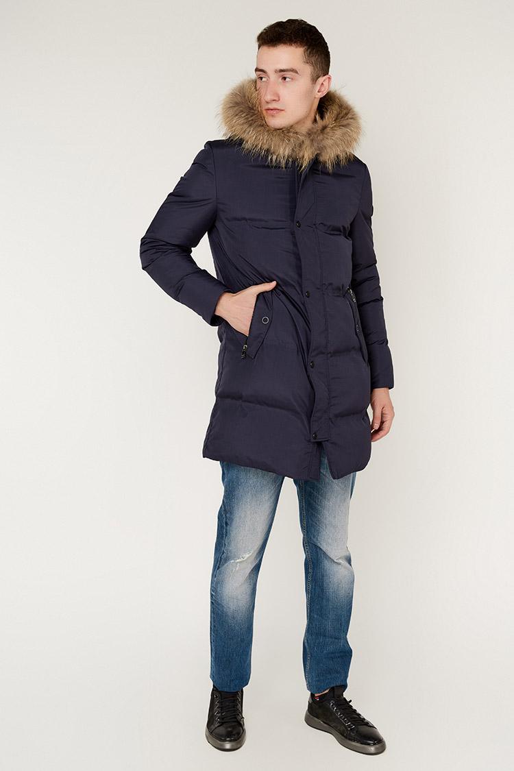 Куртка чоловіча з трикотажу синя, модель 5332/KPS