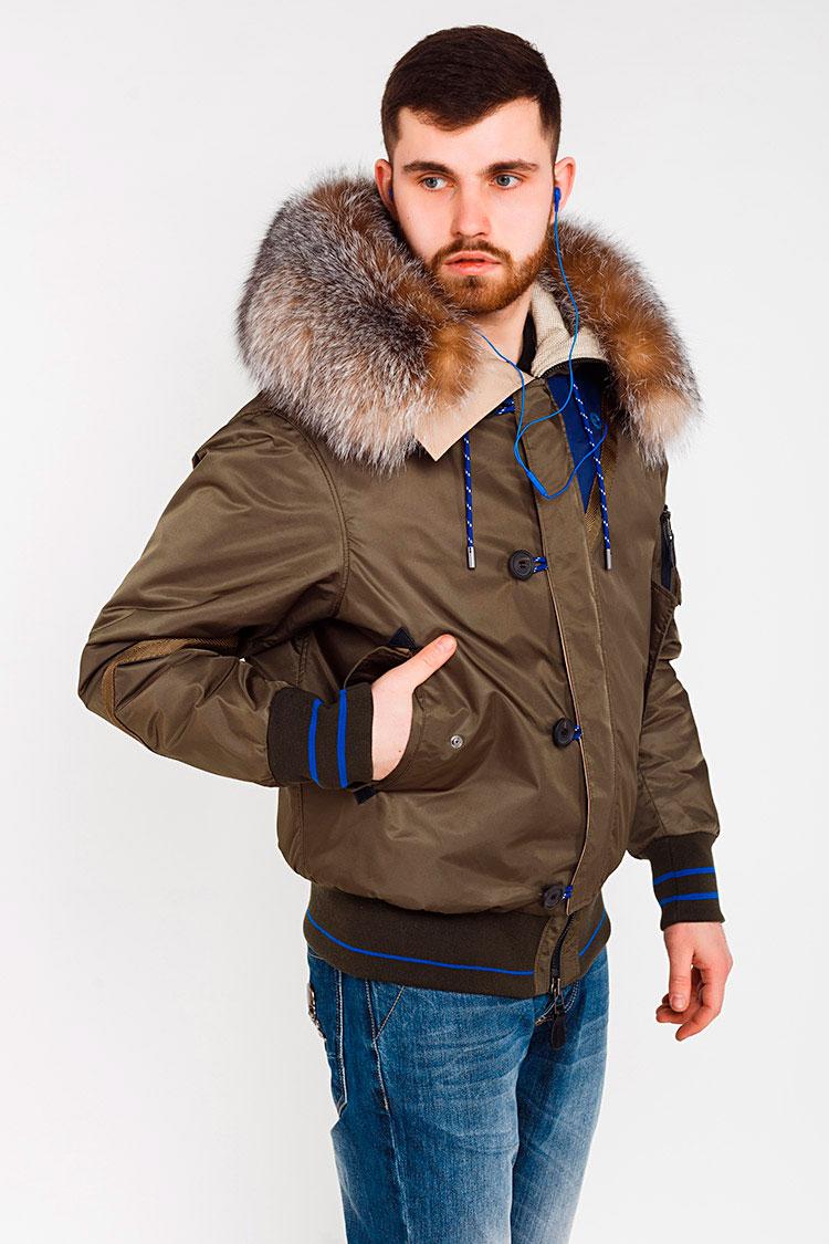 Куртка чоловіча з трикотажу зелена, модель 5340-K/KPS