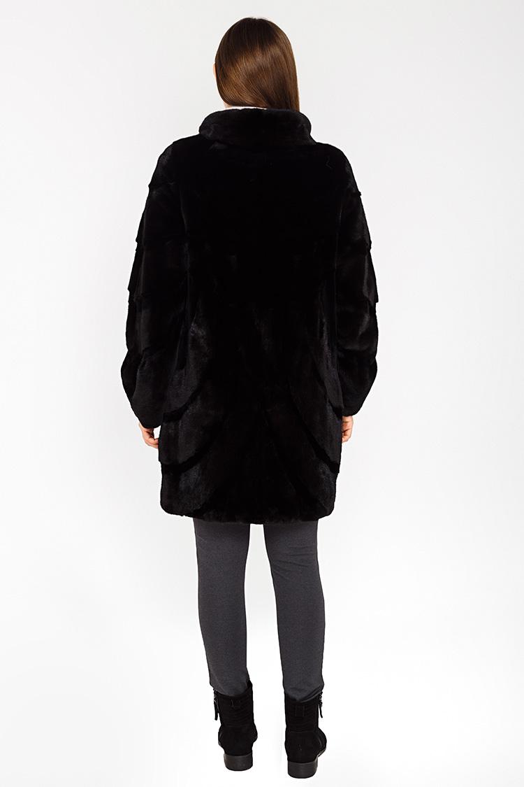 Шуба женская из норки черная, модель 03104/85