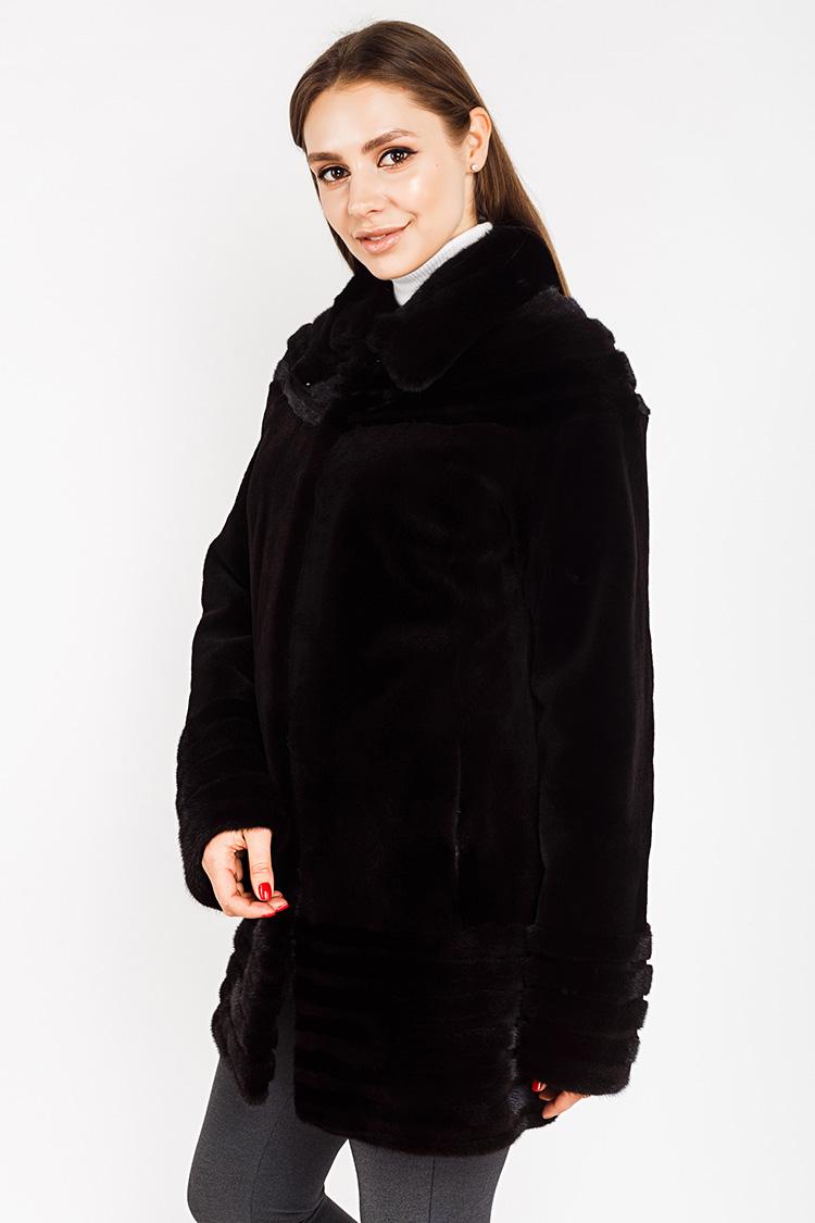 Шуба женская из норки черная, модель 307/85