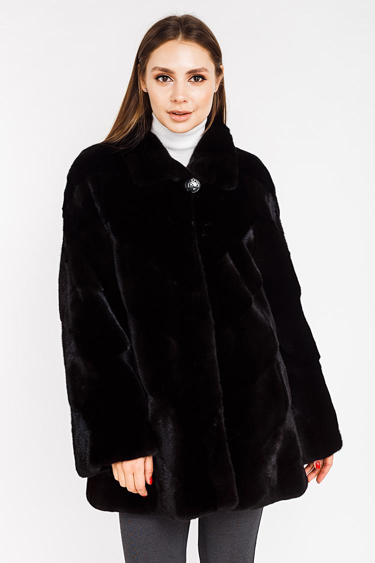Шуба женская из норки черная, модель L 006/83