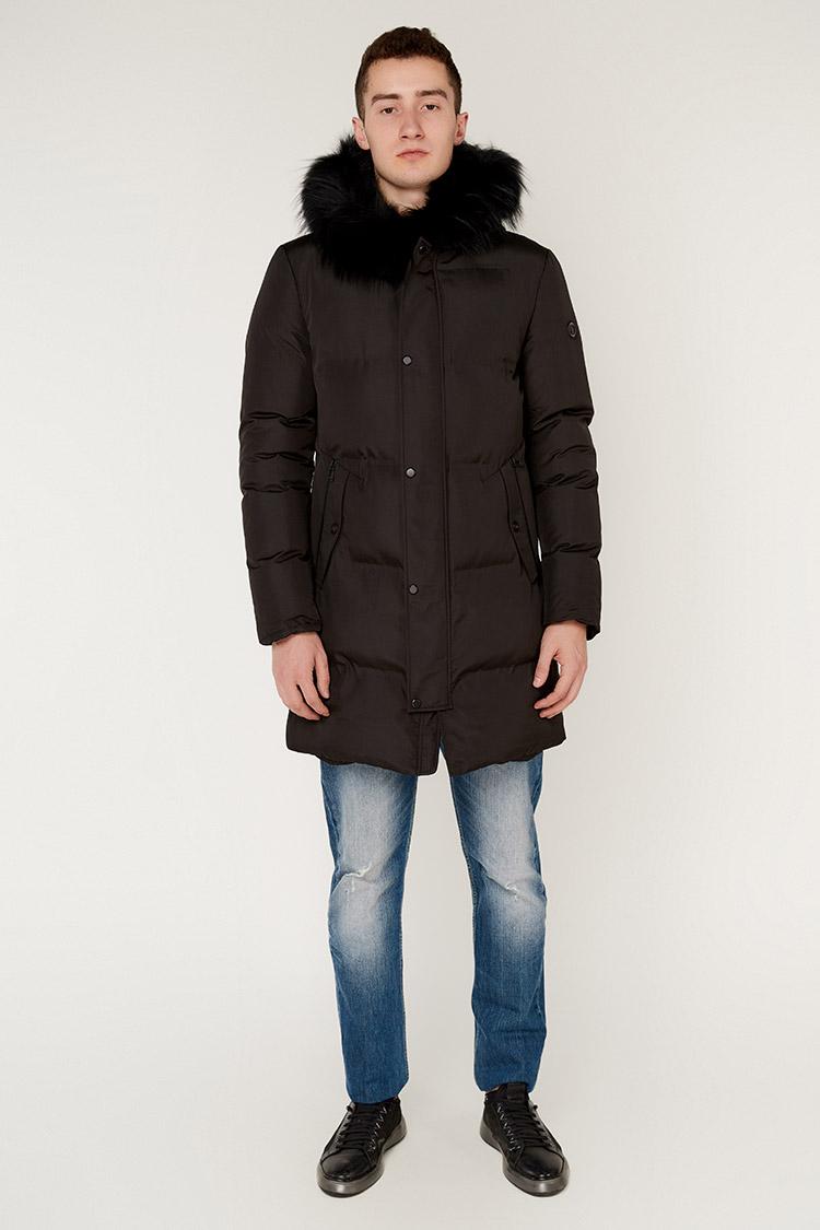 Куртка чоловіча з трикотажу чорна, модель 5332-K/KPS